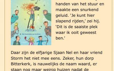 Sjaan Nel Konijn op 'de leestafel'
